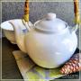 Théière Saïgon porcelaine blanche 1l