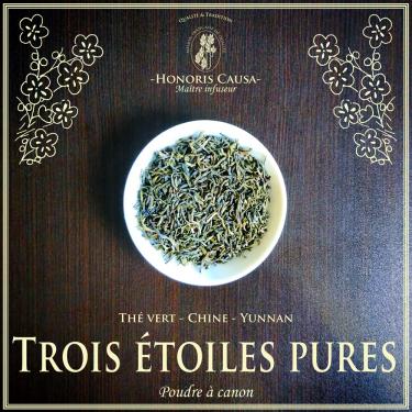 Trois étoiles Pures thé vert bio