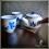 Service à thé Osaka bleu et blanc