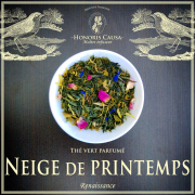 Neige de printemps, thé vert bio