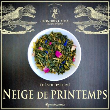 Neige de printemps thé vert bio