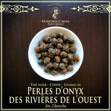 Perles d'onyx des rivières de l'ouest, thé noir