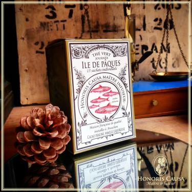Île de Pâques, thé vert sachets individuels