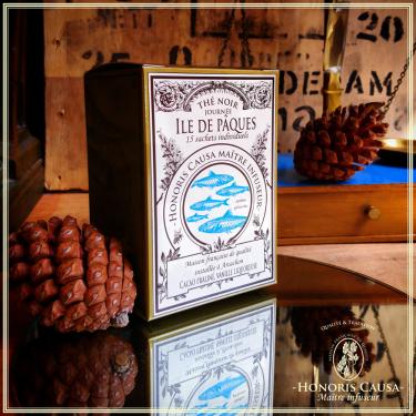 Île de Pâques, thé noir sachets individuels