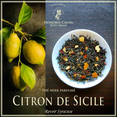 Citron de Sicile, thé noir