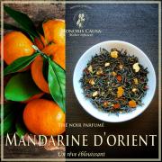 Mandarine d'orient, thé noir biologique