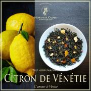 Citron de Vénétie, thé noir biologique