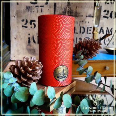 Boîte Mame-shibori rouge et or 80 grammes
