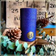 Boîte Mame-shibori bleue nuit et or 80 grammes