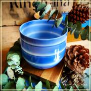 Bol à thé Ningyo opaline bleue