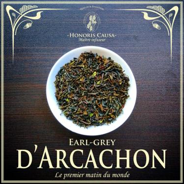 Arcachon Earl-grey, thé noir bio