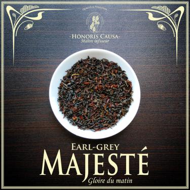 Majesté Earl-grey thé noir bio