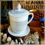 Tasse Taïpei porcelaine ajourée