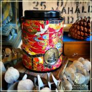 Boîte chrysanthème rouge et or, 90gr