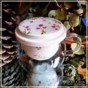 Tasse églantine filtre porcelaine