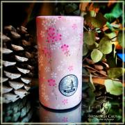 Boîte Harū Sakura, métal et papier washi rose nacré