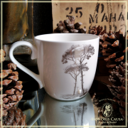 Tasse Honoris Causa platine, 0.25l Porcelaine kaolin