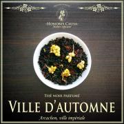 Ville d'automne, thé noir